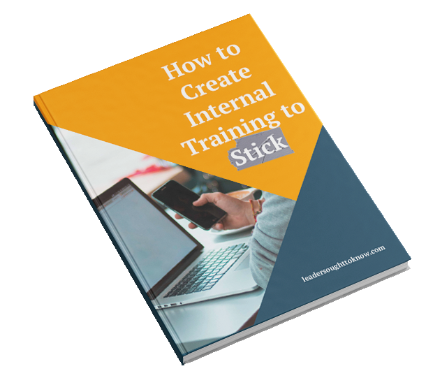 How To Create Internal Training To Stick book