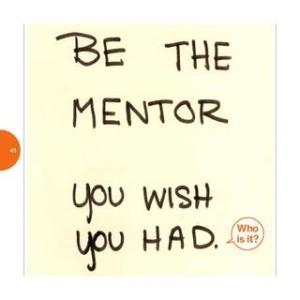 start a mentor relationship
